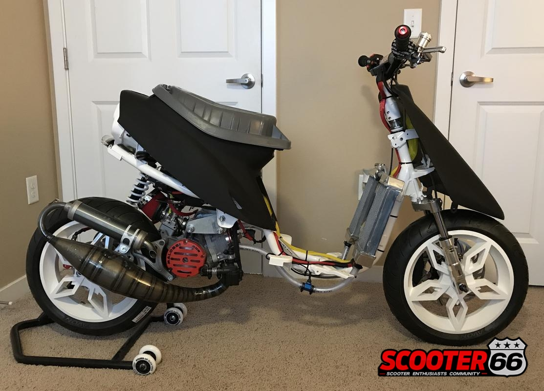 Scooter66 stage6 kickstarter koso in line water temp sensor custom sleeved tusk enduro rechargeable battery operated lighting kit blinkers taillight publicscrutiny Choice Image